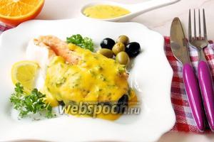 Стейк из лосося в апельсиновом соусе