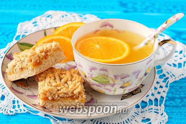 Фото Постный тёртый сухарный пирог