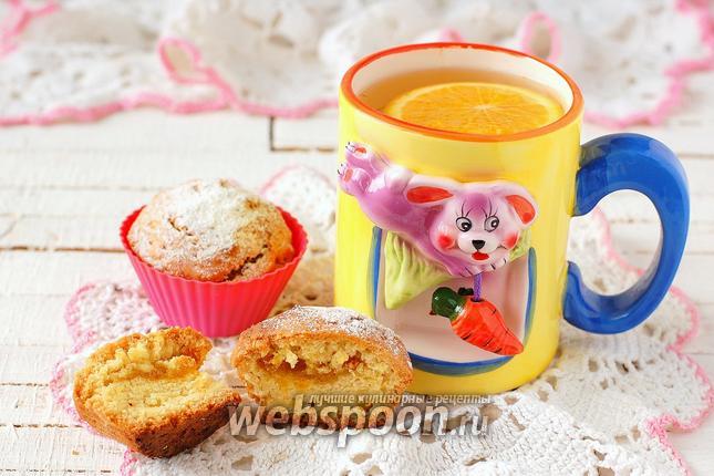 Фото Постные манные кексы с пудингом