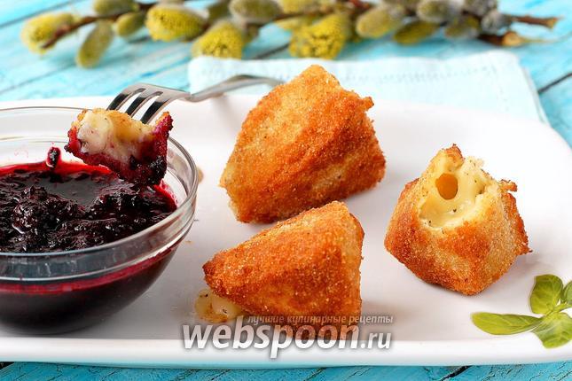 Фото Жареный сыр камамбер