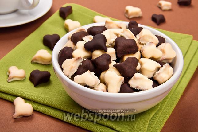 Фото Печенье «Шоколадные сердечки»