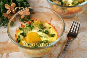 Запеканка с двойным сыром и яйцом
