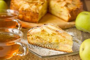 Двухслойный яблочный пирог