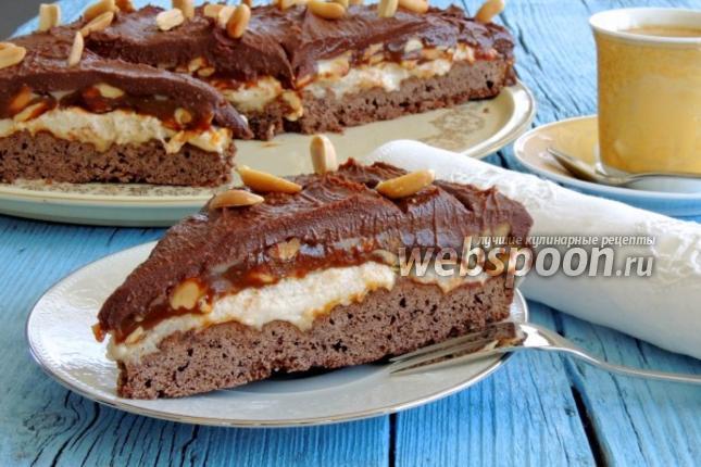 торт сникерс в домашних условиях рецепт с фото