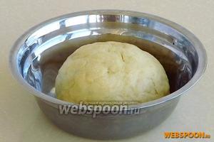 Замесить густое, но не очень крутое тесто, накрыть его влажной салфеткой  и выдержать в холодильнике около 2 часов.