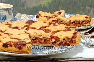 Швейцарский ореховый пирог