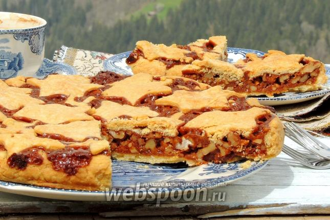 Фото Швейцарский ореховый пирог