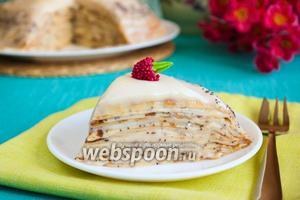 Сладкий блинный пирог с маком