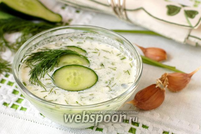 Фото Таратор — болгарский суп из огурца
