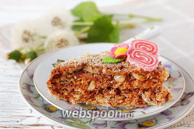 Фото Вафельный торт со сгущёнкой