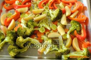 Вот так будут выглядеть наши уже готовые овощи. Подаём либо в горячем, либо в холодном виде.
