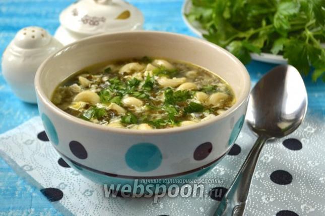 Фото Щавельный суп с пастой