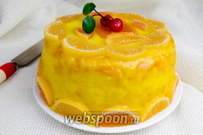 Фото Бисквит с лимонным кремом в мультиварке