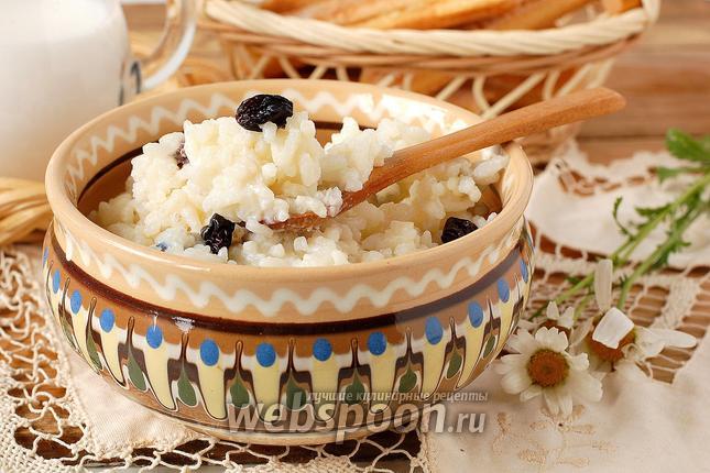 Фото Рисовая молочная каша в мультиварке