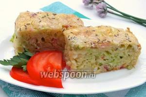 Наливной капустный пирог с беконом