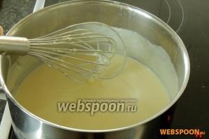 Затем готовим  ванильный крем  (смотрите шаги 9-10).