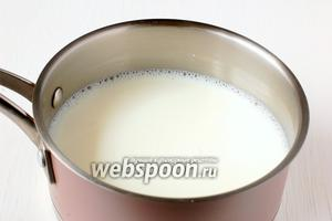 Молоко вскипятить и охладить до температуры 35°С.