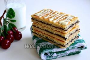 Датское печенье Hindbærsnitte