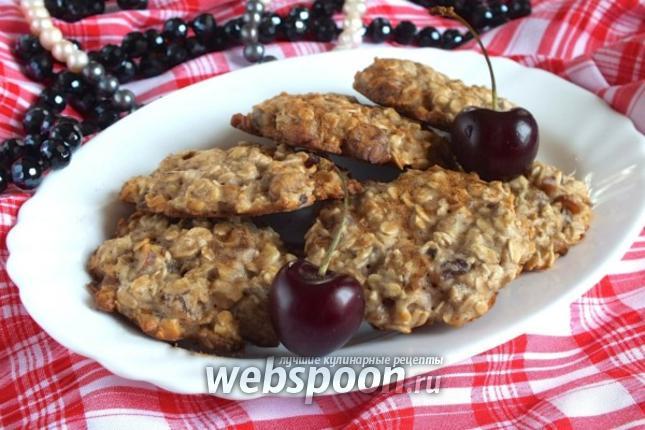 Фото Диетическое овсяное печенье