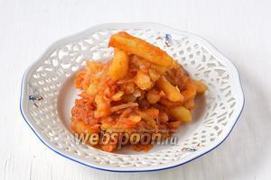Картофель с капустой в мультиварке