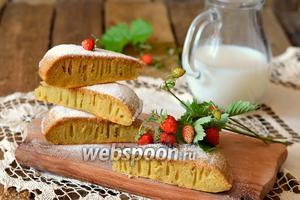 Кисельный пирог в мультиварке