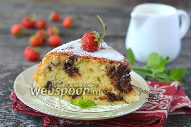 Фото Творожный кекс с шоколадом в мультиварке