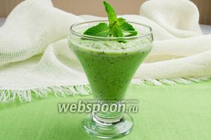 Коктейль из зелёных овощей с йогуртом