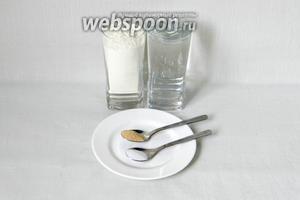 Для приготовления чиабатты возьмём муку, прохладную воду, соль, дрожжи быстродействующие (Саф-момент).