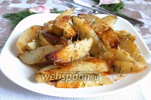 Молодой картофель в пряной заправке