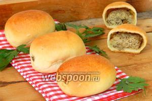 Пирожки с картошкой и печенью печёные