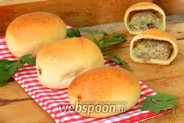 Фото Пирожки с картошкой и печенью печёные