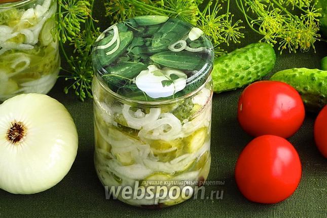 Фото Заготовка салата из огурцов на зиму