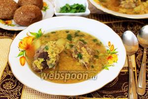 Бараний суп с чечевицей