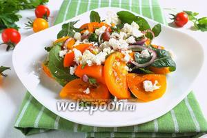 Салат из жёлтых томатов с фетой