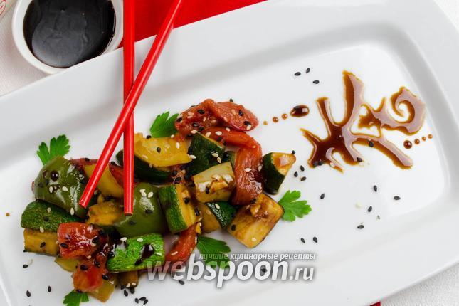Фото Овощи маринованные в соусе Тэрияки