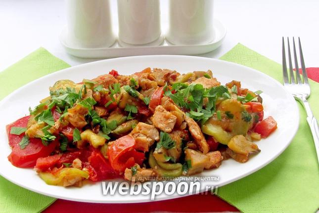 Фото Куриное филе с овощами