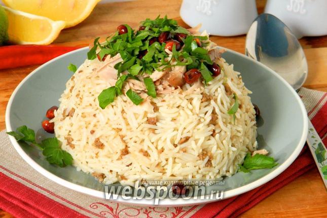 Фото Курица с рисом по-ливански