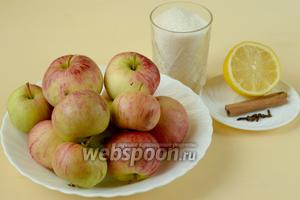 Для приготовления зернистого варенья нам нужны яблоки, сахар, корица, гвоздика, лимон.