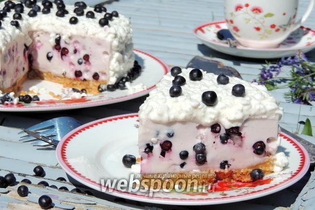 Фото Черничный творожный торт