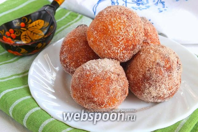 Фото Творожные пончики с корицей
