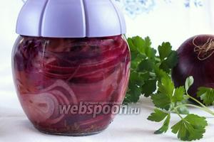 Маринованный лук с базиликом
