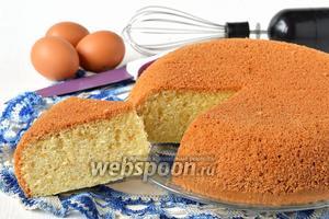 Ванильный бисквит на кипятке в мультиварке