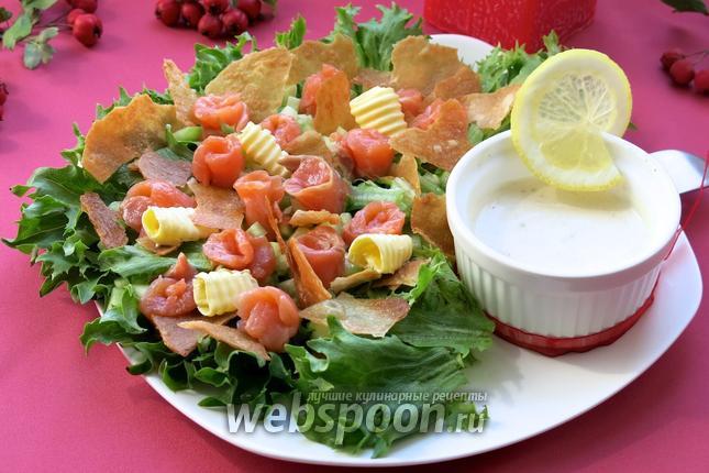Салат северный с семгой