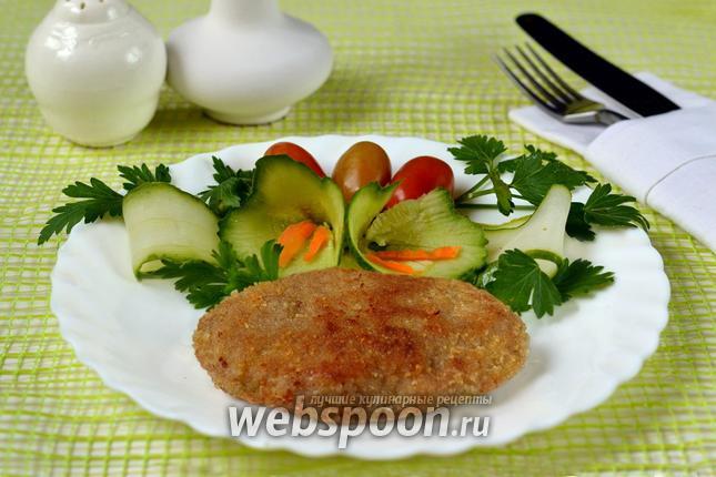 шницель с фарша рецепт с фото