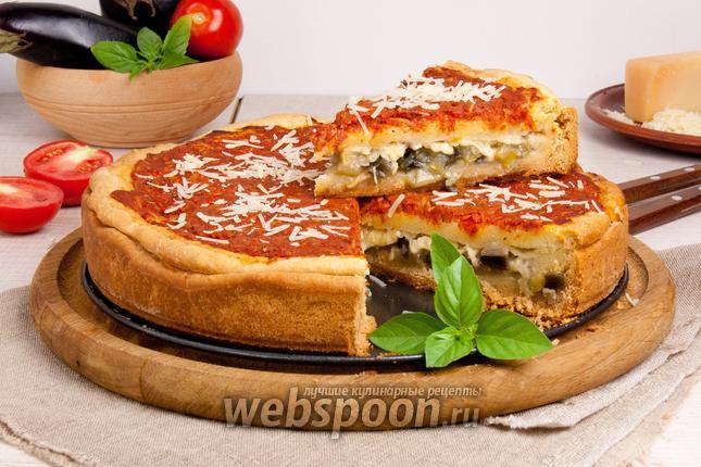 Фото Пирог-пицца по-чикагски