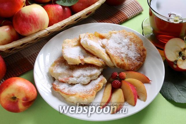 Фото Оладьи с фруктами