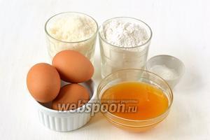 Для приготовления медового бисквита в мультиварке нам понадобится мёд, сахар, мука, яйца, разрыхлитель.