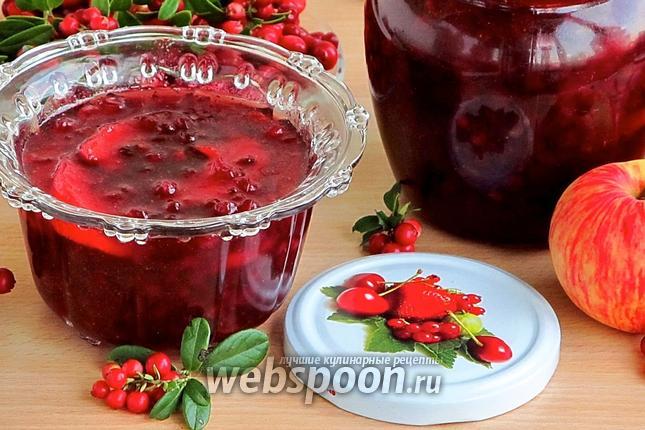 Фото Варенье из брусники с яблоками