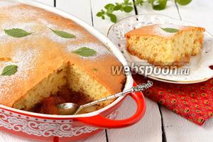 Пирог с карамелизованными яблоками
