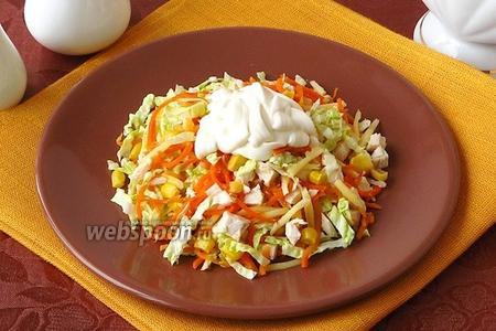 Салат из пекинской капусты с корейской морковью
